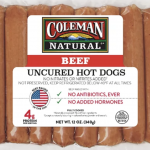 Coleman Natural beef hot dogs