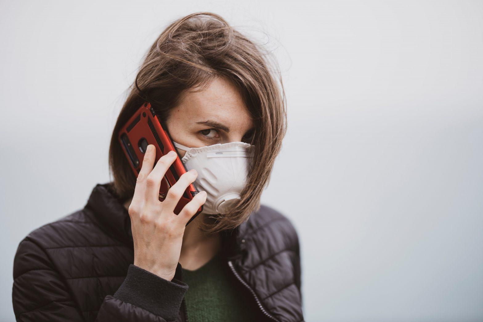 Woman wearing N45 mask